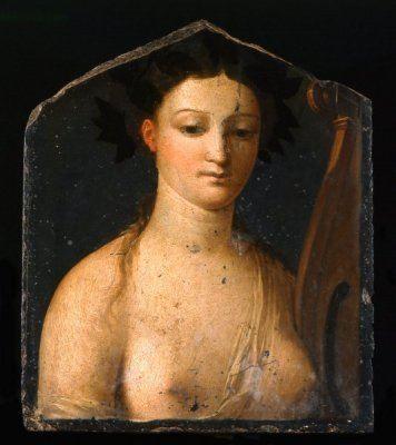 Musa Polimnia, pittura ad encausto di stile pompeiano