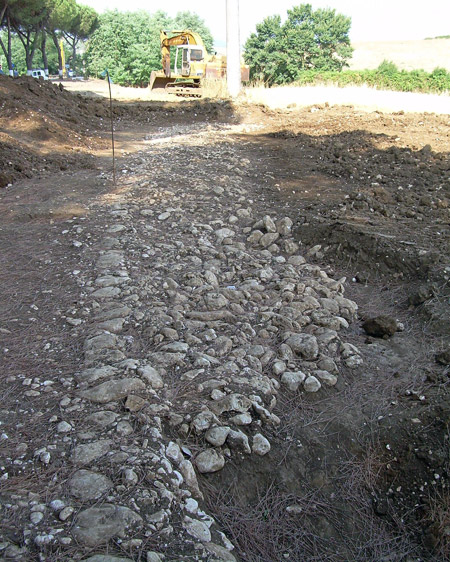 Scoperta strada romana a Colleferro presso la via Ariana