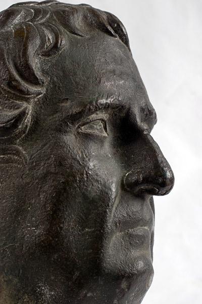 Ritratto del padre di Traiano, bronzo con tracce di doratura, da Kostol, Pontes, Ponte di Traiano, fine del I sec. d. C. Belgrado, Museo Nazionale