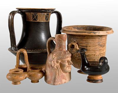 Ceramica greca figurata, V/IV sec. a. C., da scavi nei pressi del Lago di Ocrida