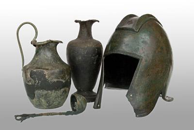 Oggetti di manifattura greca, corredo funerario da Novipazar, VI sec. a. C.