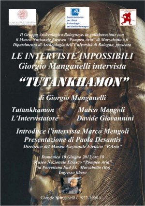 Le interviste impossibili di Giorgio Manganelli. Tutankhamon