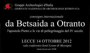 Da Betsaida ad Otranto. L'apostolo Pietro e le vie di pellegrinaggio del IV secolo