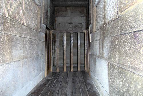 Veduta di alcune delle camere sotterranee al di sotto del palazzo