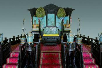 La Sala del Trono del Celeste Impero (regno di Qianlong 1735-1796)