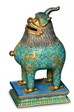 Incensiere (cloisonné). Regno di Guangxu 1875-1908